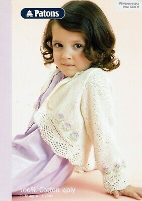 Patons Baby/Childs 4 Ply Knitting Pattern 03551
