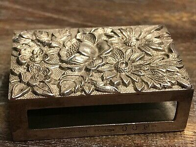 S. Kirk & Son Sterling Silver Matchbox Cover