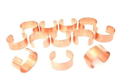 Raw Copper Bracelet Cuff Blanks Wholesale Lot 1 inch Pkg Of 12