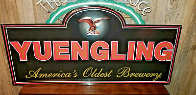 Yuengling America's Oldest Brewery Beer Eagle Embossed Metal Sign Bar Pub