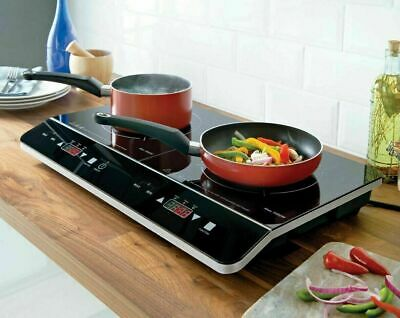 2800W Portable Quest Digital Twin Induction Hob Double Electric Cooker Hot Plate