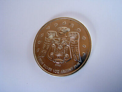 Silver Inuit Design Maple Leaf Coin 1 oz .9999 Canada Fine Canadian Coin 2009