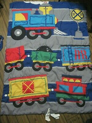 Everything Kids Train Pillowcase & Blanket Set