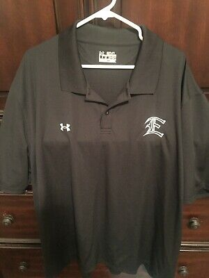 UNDER ARMOUR 3XL Black Loose Heat Gear Polyester Blend Polo Shirt NEW