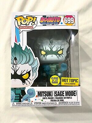 Funko Pop Boruto Naruto Mitsuki Sage Mode Hot Topic Exclusive Glow IN HAND