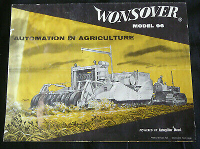 WONSOVER MODEL 96 by Caterpillar Diesel (fold-out brochure)