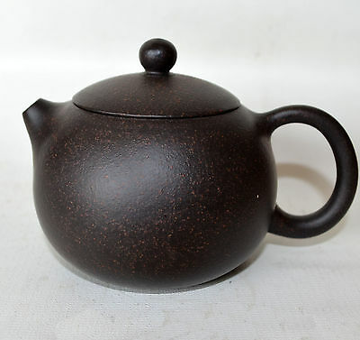 Chinese Teapot 220ml Yixing clay Black Sand xishi pots Spherical filter Round
