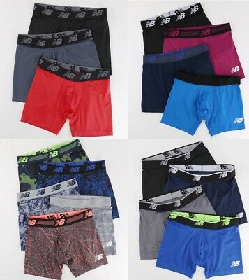 "5 Pack New Balance Mens 6"" Premium Performance Quick Dry Boxer Briefs size S-XL"
