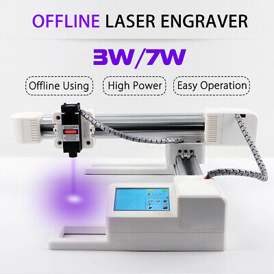 3W 7W Offline USB Laser Engraver Engraving Machine Logo DIY Mark Printer  !
