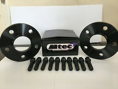 Audi A5 A7 20mm Hubcentric Black Wheel Spacer Kit 5x112PCD 66.6,Radius Bolts