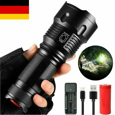 Super hell 80000lm Taschenlampe LED Taktisches 5000mAh Batterie Military Torch