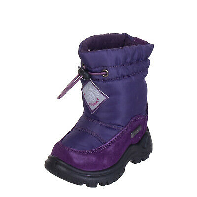 NATURINO Mid-Calf Snow Boots Size 20 UK 3.5 Waterproof Contrast Leather Faux Fur