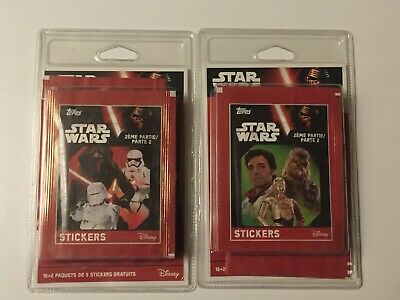 Lot 2 Paquets Star Wars Images 16 + 2   (2 éme Partie )   Neuf
