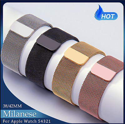 Milanese Loops bands for Apple Watch Stainless steel strap