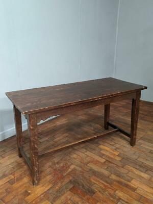 Antique Original Solid Oak Arts & Crafts Dining Table 1890s Victorian Edwardian