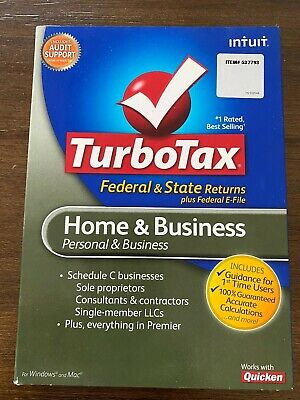 TurboTax 2010 Home and Business for Windows & Mac pre-owned, exc condition