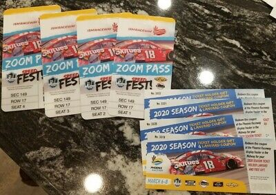 (4) GREAT SEATS! Tickets NASCAR Cup Series: All 3 Races Phoenix  ZOOM PASSES!