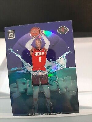Russell Westbrook 2019-20 Panini Optic Splash Purple Prizm #10 Houston Rockets