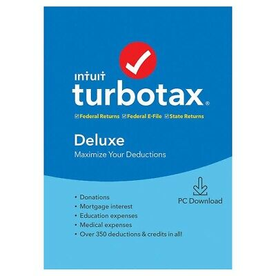 turbotax deluxe 2019 federal state federal e-file