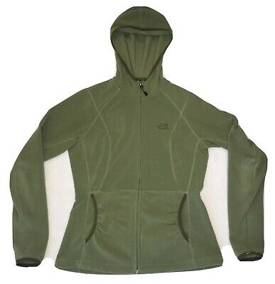 THE NORTH FACE  Womens M POLARTEC Green Zip-Up Hooded Hoodie Jacket
