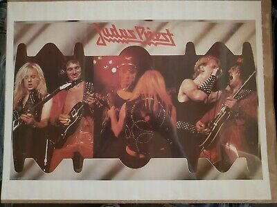 Judas Priest Vintage 1982 Band Promo Poster Screaming For Vengeance Metal Gods
