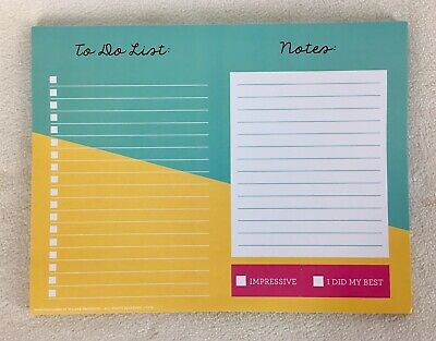 """To Do Desk Planner Note Pad Day Organizer Shopping Check List 9.75""""x7.5"""" 2020"""