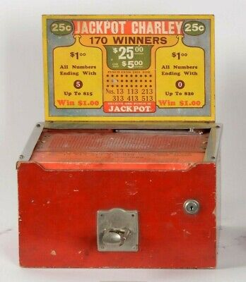 Vintage 25¢ 25 Cent Jackpot Charley Hole Punch Trade Stimulator Coin-Op Game