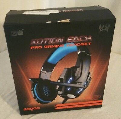 Kotion Each Pro Gaming Headset w/ Microphone; G9000; 3.5mm, LED, Black/Blue, NOB