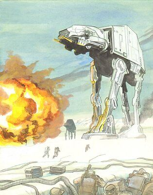 Star Wars: Empire Strikes Back AT-AT Walker Color Commission by Cynthia Martin