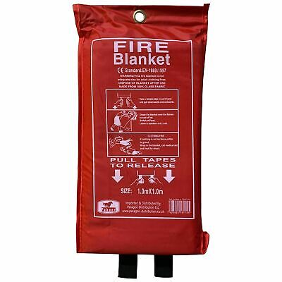 Quick Release Home & Office Safety Large Fire Blanket In Case 1m X 1m