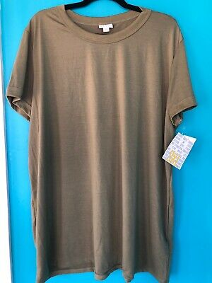 LuLaRoe Liv **SOLID** Light Olive Green. NWT. Size 3XL.