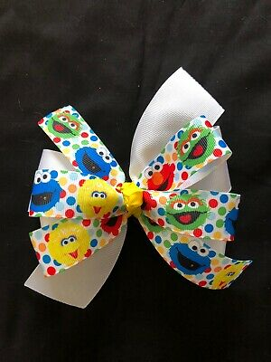 Sesame Street Hair Bow / Oscar, Big Bird, Cookie Monster, Elmo Hair bow