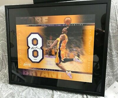Kobe Bryant 3-Times Championship Autographed Jersey Number w/ COA from UDA