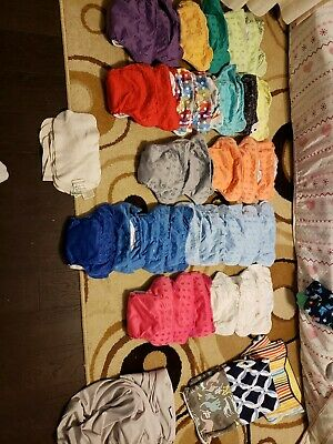 33 bumgenius used cloth diapers all in one lot