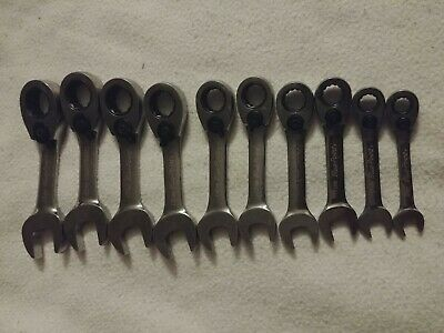 Blue-Point 10pc Metric Short Offset Ratcheting Box / Open End Wrench 12pt