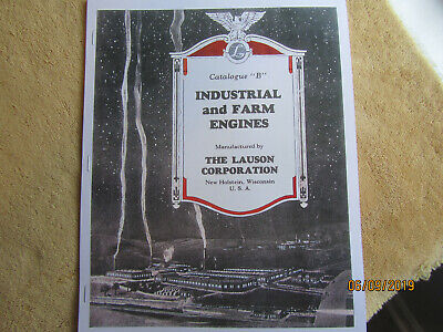 1935 Lauson Industrial andFarm Gas Engine Information Catalog
