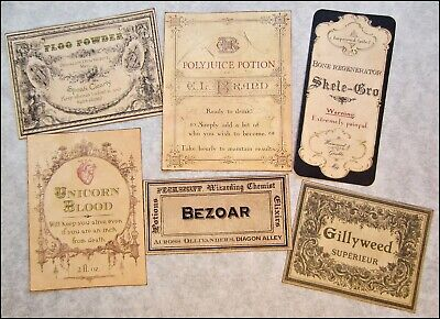 Set/20 HARRY POTTER POTIONS & Ingredients LABELS - Apothecary or Halloween Look