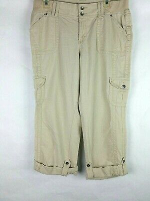 Sonoma Life Style Modern Fit Women's 12 Cargo Style Capris Cropped Pants
