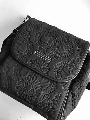 Petunia Pickle Bottom Embossed Boxy Backpack Diaper Bag Quilted Backpack