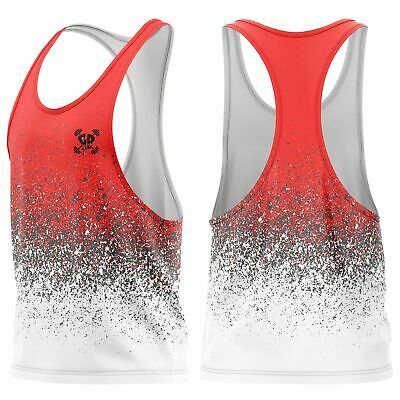 Get Down Gym Red Mens Training Vest Sleeveless Bodybuilding Muscle Fitness Train