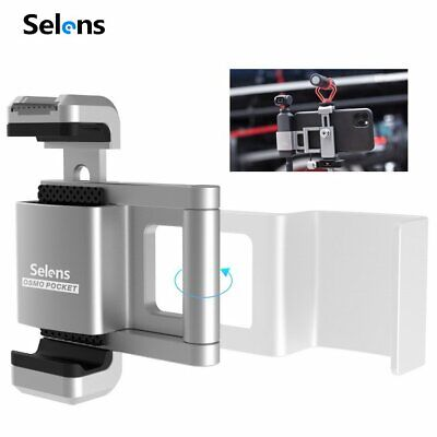 Selens Foldable Alloy Phone Mount Holder Clamp Clip for 1/4 Mount Tripod Monopod