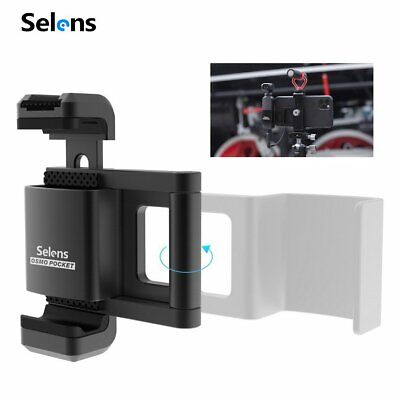 Selens Foldable Alloy Phone Mount Holder Clamp Clip for Outdoor Tripod Monopod