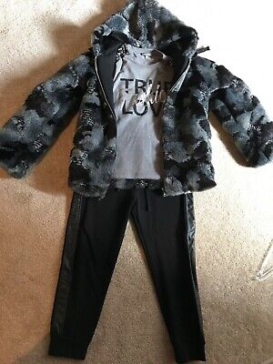 Designer girls Miss Grant 3 piece set trousers top and jacket 8 years