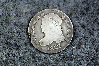 ESTATE FIND 1827 CLIPPED Capped Bust Dime  #D20774