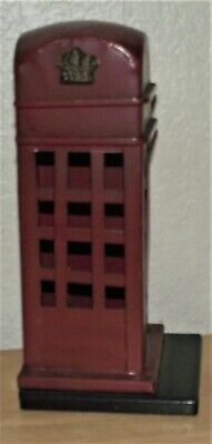 EUC-AWESOME Metal British Red Phone Booth , Hande Made-LQQK !