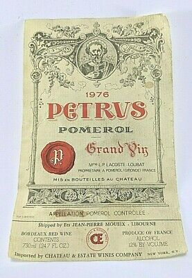 PETRUS 1976 Original Wine Label