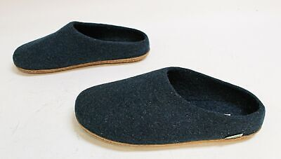 Kyrgies Men's Classic Wool Low Back Slippers TM8 Navy Size US:9