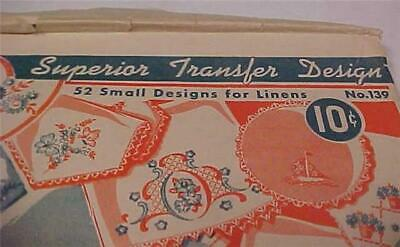Superior Transfer Design(52 Small Designs for linens)Original Envelope  #12052C