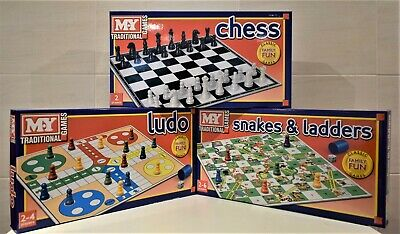 MY  CHESS LUDO Or SNAKES & LADDERS BOARD GAME  SELECTION TOY SETS