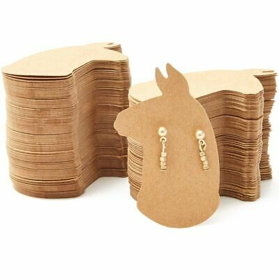 300Pack Llama Shaped 2.5x1.6 in Earring Holder Cards for Display Jewelry Bulk